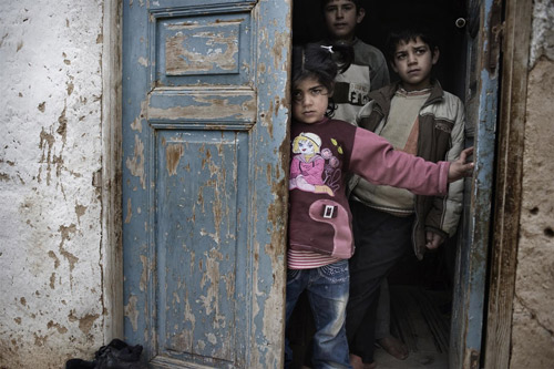 Children affected by the crisis in Syria.