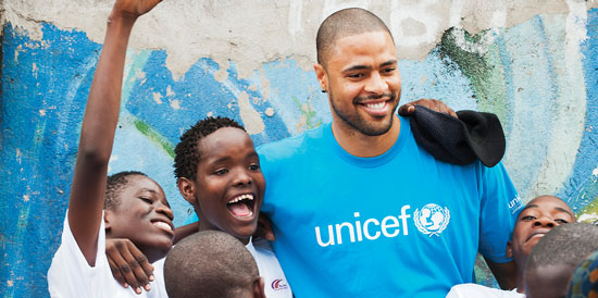 Tyson Chandler in Tanzania on UNICEF Field Visit