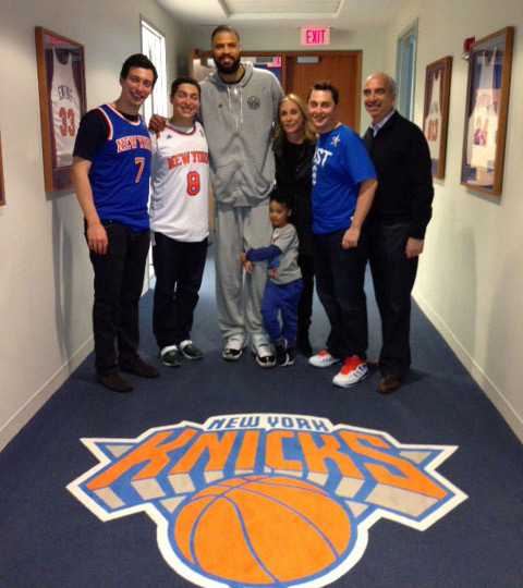 The Hess family with Big and Little Tyson Chandler