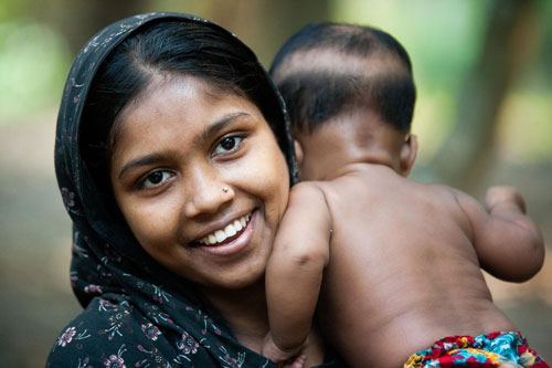 A mother in Bangladesh with her child
