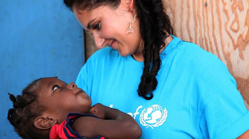 Cara E. Yar Khan of UNICEF in Haiti.