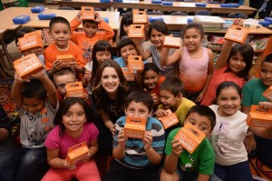2013 Trick-Or-Treat For UNICEF Ambassador Laura Marano Visits Glassell Park Elementary School