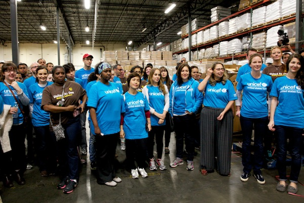 Volunteers gathered at a warehouse in Carteret, New Jersey, to pack winter clothing kits for Syrian children.