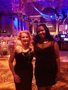 Frances Little, left, and Danielle de Beauffort, right, at the UNICEF Snowflake Ball in New York City.