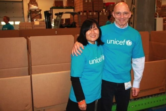 The Findels at the UNICEF Supply Division headquarters in Copenhagen. Photo by Marc Diaz, 2013.