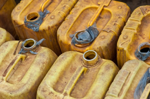 Jerry cans used to fetch water, Ethiopia. Photo: John Kluge, Jr.