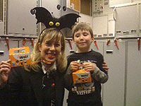 Charlie helped collect over $500 for Trick-or-Treat for UNICEF on  board a flight.