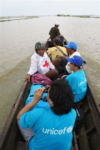 UNICEF staff in Myanmar