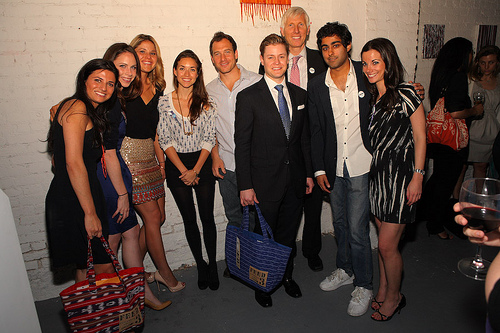 Left to right: Casey Rotter, Barbara Bush, Jenna Bush Hager, Mia Baxter, David Lieberman, Kipton Cronkite, Robert Thompson, Manish Vora, Danielle Abraham.