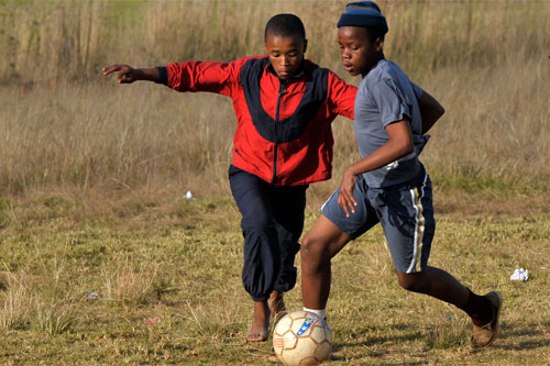 UNICEF Soccer programs in South Africa