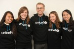 © U.S. Fund for UNICEF | 2010-2012 Alumni Association Council. From left to right: Dominique Figueroa, Jessie Rohrer, Skyler Stevenson, Erin Milner, Tiffany Ng