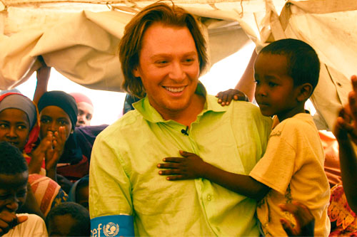 Clay Aiken on a recent field visit to Somolia.