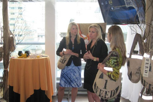 HSN, Inc. CEO Mindy Grossman, and FEED Projects co-founders Ellen Gustafson and Lauren Bush speak at the September 14 blogger event in NYC.